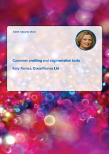 Customer profiling and segmentation tools