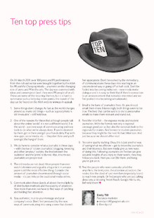 Ten top press and PR tips for arts and cultural professionals