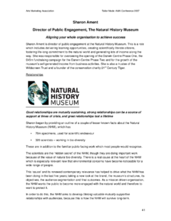 Creating life-long relationships with museum visitors