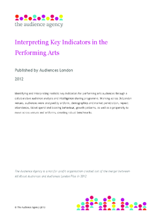 Interpreting key indicators in the performing arts