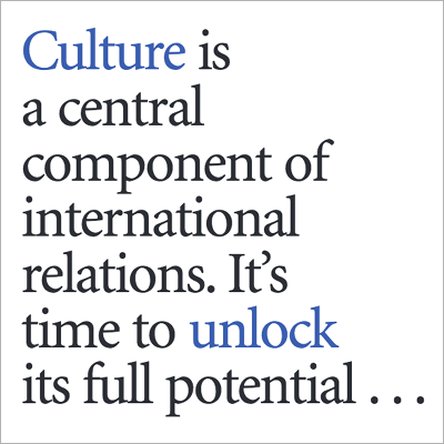 Cultural Diplomacy resource cover screen shot