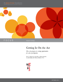 Getting in on the act: how to create opportunities for active participation