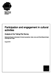 Participation and engagement in cultural activities