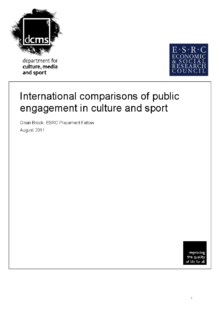 International comparisons on engagement with sport and culture