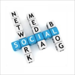 Social network media blog letter dice