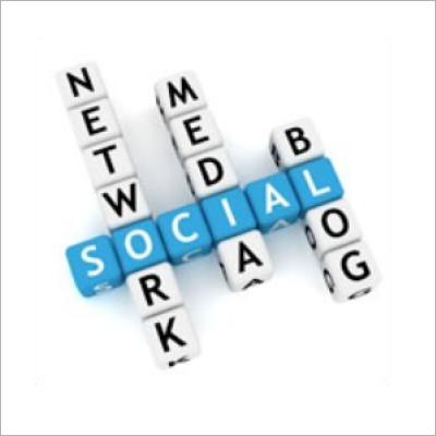 Social network media blog letter dice