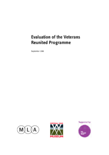 Veterans Reunited education learning programme at Imperial War Museum