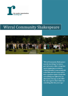 Community engagement case study: Wirral Community Shakespeare