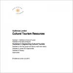Audiences London Cultural Tourism Resources