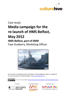 Media campaign for the re-launch of HMS Belfast, May 2012