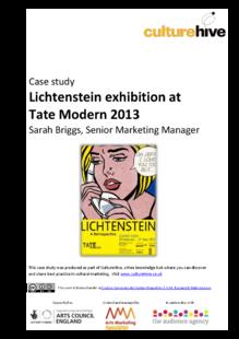 Blockbuster exhibition marketing campaign: Lichtenstein at Tate Modern 2013