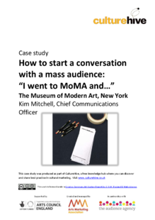 How to start a conversation with a mass audience