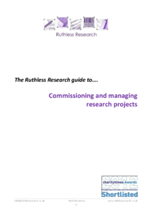 A guide to commissioning market research