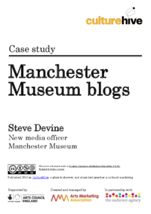 How Manchester Museum uses blogs to encourage participation
