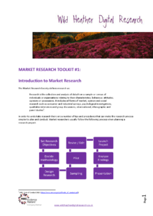 An introduction to market research