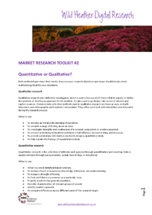 A guide on when to use qualitative or quantitative market research