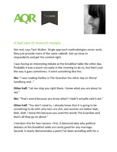 Challenging the single approach to qualitative research