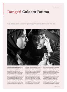 Ideas for growing a Muslim audience for the arts