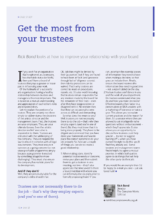 Get the most from your trustees