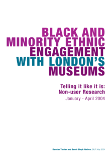 BME engagement with London museums and galleries