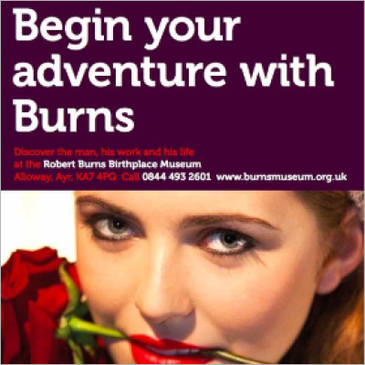 Robert Burns Birthplace Museum flyer
