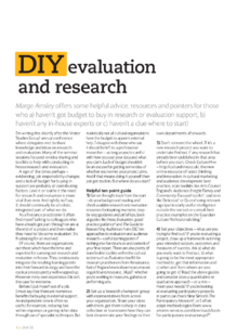DIY evaluation and research