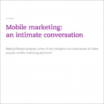 Mobile Marketing article headline