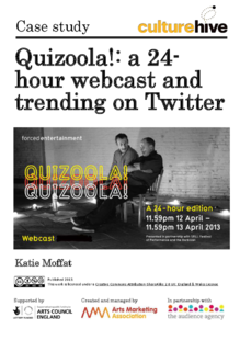Quizoola: a 24-hour webcast and trending on Twitter