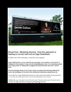 Brand focused advertising campaign