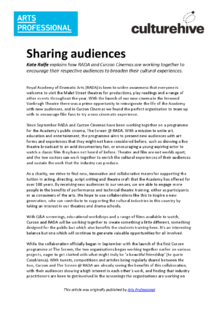 Sharing audiences