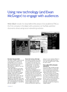 Using new technology (and Ewan McGregor) to engage audiences