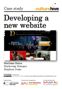 Developing a new website