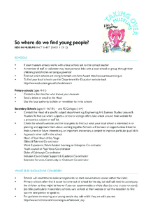 Where can museums find young people?