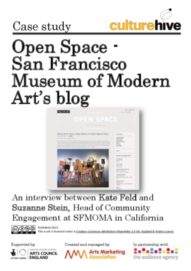 How arts organisations can use blogs to engage with the local community