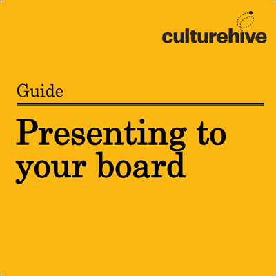 Presenting to your board cover