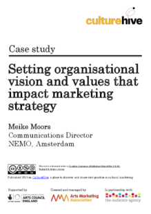 Setting organisational vision and values that impact marketing strategy