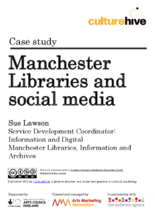 Using social media to market library services
