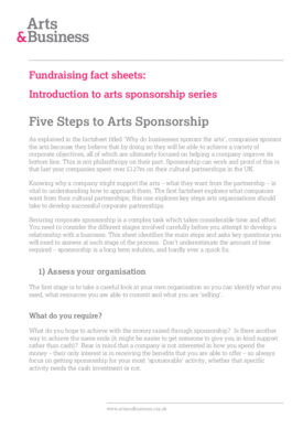 How to seek sponsorship