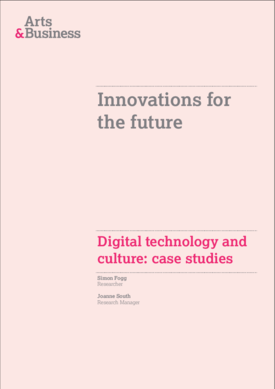 Digital innovations and the arts