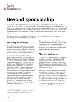 The changing face of business sponsorship