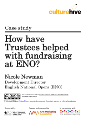 How have Trustees helped with fundraising at English National Opera?