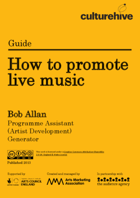 How to promote live music