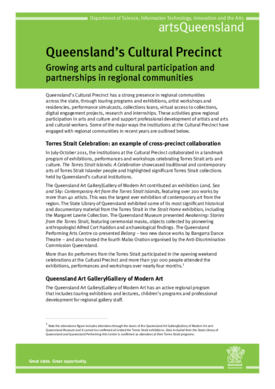 Growing arts and cultural participation and partnerships in regional communities