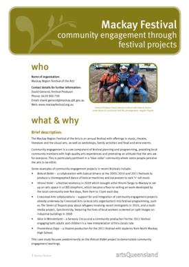 Community engagement through festival projects