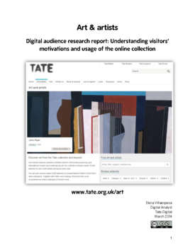 Understanding motivations and usage of the Tate online collection