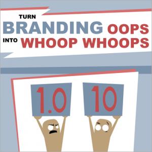 Turn branding oops into whoop whoops cover