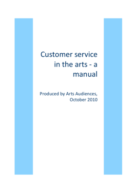 Customer Service in the Arts – A Manual by Roisin Bell for Arts Audiences