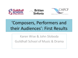 Composers, Performers and their Audiences