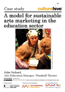 A model for sustainable arts marketing in the education sector