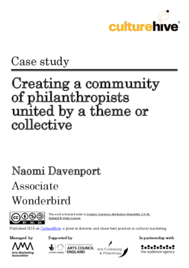 Creating a community of philanthropists united by a theme or collective